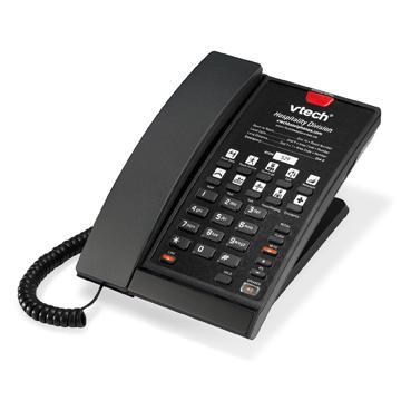 VTech 1-Line SIP Corded Phone Matte Black - 80-H0C7-13-000