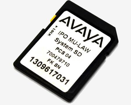 Avaya IPO 500V2 System SD Card MU-Law (700479710)