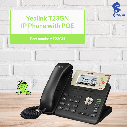 Yealink T23GN IP Phone with PoE in stock at ghekko
